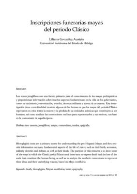 Inscripciones funerarias mayas del Periodo Clásico
