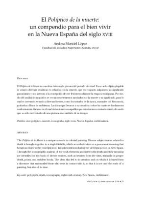 El Políptico de la muerte: un compendio para el bien vivir en la Nueva España del siglo XVIII