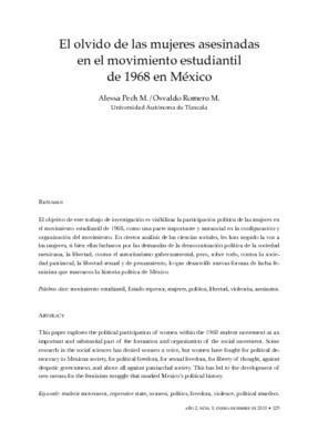 El olvido de las mujeres asesinadas en el movimiento estudiantil de 1968 en México