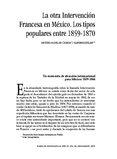 La otra Intervención Francesa en México. Los tipos populares entre 1859-1870