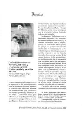 Carlos Herrero Bervera, Revuelta, rebelión y revolución en 1810. Historia social y estudios de caso, México, CEHI-Miguel Ángel Porrúa, 2001, 287 pp.