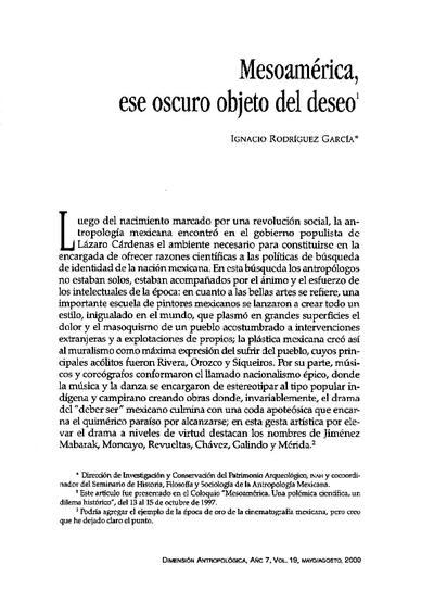 Mesoamérica, ese oscuro objeto del deseo