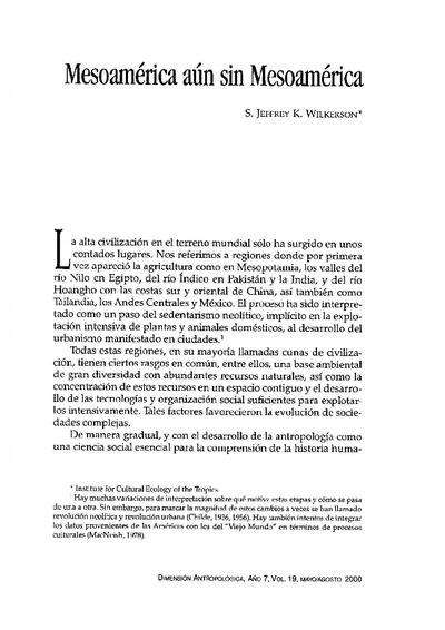 Mesomérica aun sin Mesoamérica