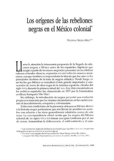 Los orígenes de las rebeliones negras en el México colonial