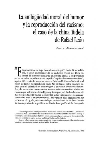 La ambigüedad moral del humor y la reproducción del racismo: el caso de la china Tudela de Rafael León