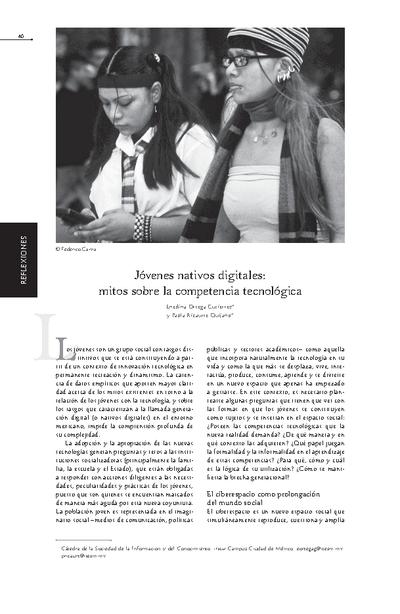 Jóvenes nativos dijitales: mitos sobre la competencia tecnológica