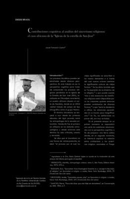"""Contribuciones cognitivas al análisis del sincretismo religioso: el caso africano de la """"Iglesia de la estrella de San José"""""""