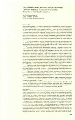Diversidad humana, sociedad, cultura y ecología. Otomíes, nahuas y totonacos de la sierra