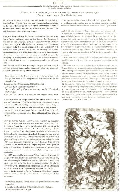 """Simposio: """"El mosaico religioso en Chiapas. Un aporte de la antropología"""""""