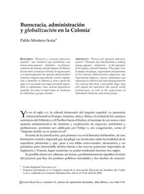 Burocracia, administración y globalización en la Colonia