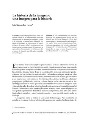 La historia de la imagen o una imagen para la historia