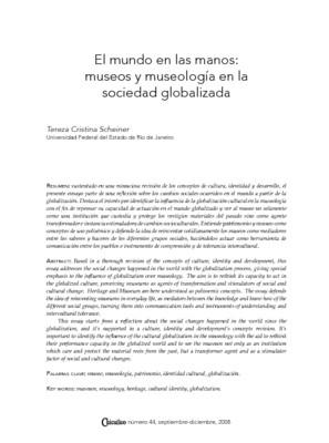 El mundo en las manos: museos y museología en la sociedad globalizada
