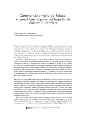 Caminando el valle de Toluca: arqueología regional, el legado de William T. Sanders