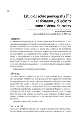 Estudios sobre pornografía [l]: el femdom y el género como sistema de castas
