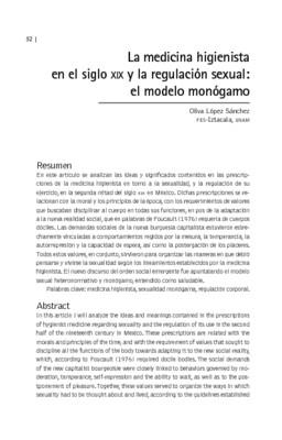 La medicina higienista en el siglo XIX y la regulación sexual: el modelo monógamo