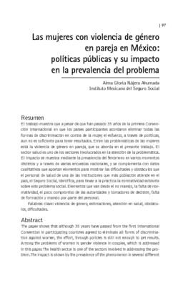 Las mujeres con violencia de género en pareja en México: políticas públicas y su impacto en la prevalencia del problema