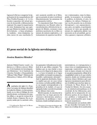 El peso social de la Iglesia novohispana