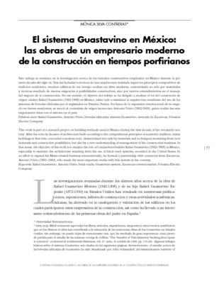 El sistema Guastavino en México: las obras de un empresario moderno de la construcción en tiempos porfirianos