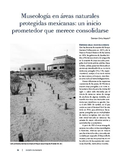 Museología en áreas naturales protegidas mexicanas: un inicio prometedor que merece consolidarse