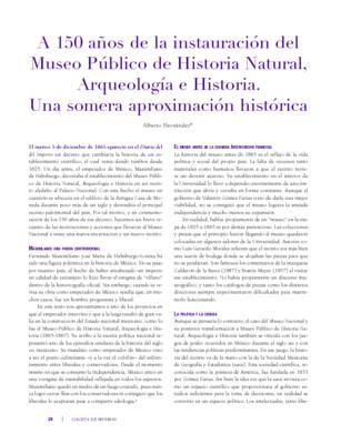 A 150 años del Museo Público de Historia Natural, Arqueología e Historia. Una somera aproximación histórica