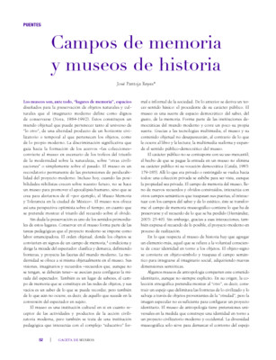 Campos de memoria y museos de historia