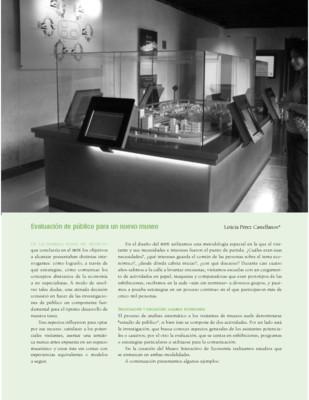Evaluación de público para un nuevo museo