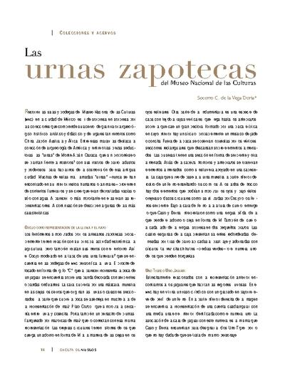 Las urnas zapotecas del Museo Nacional de las Culturas