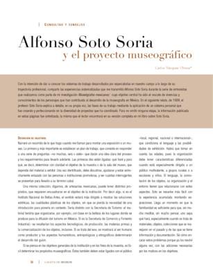 Alfonso Soto Soria y el proyecto museográfico