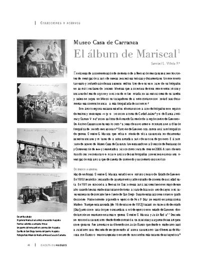 Museo Casa de Carranza. El álbum de Mariscal