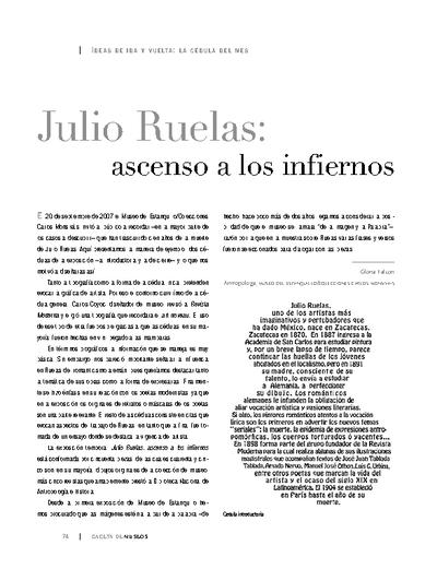 Julio Ruelas: ascenso a los infiernos