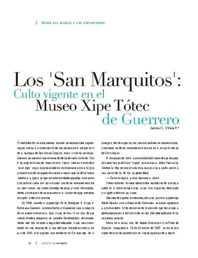"""Los """"San MArquito"""": Culto vigente en el Museo Xipe Tótec de Guerrero"""