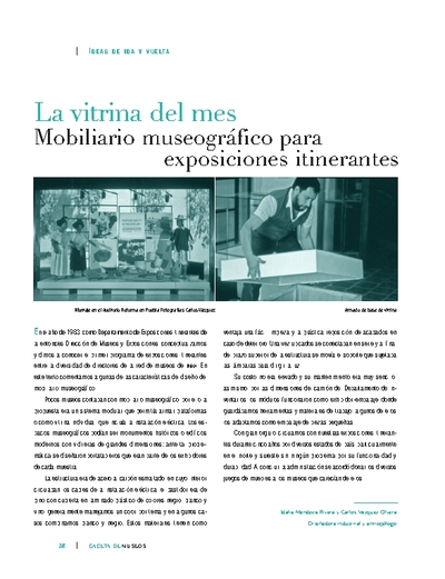 La vitrina del mes: Mobiliario museográfico para exposiciones itinerantes