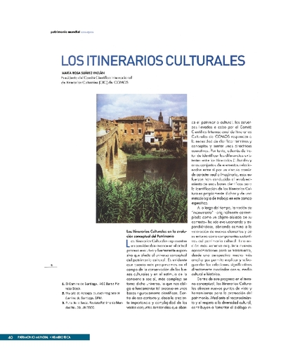 Los itinerarios culturales