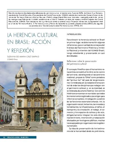 La herencia cultural en Brasil: acción y reflexión