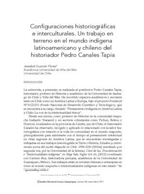 Configuraciones historiográficas e interculturales. Un trabajo en terreno en el mundo indígena latinoamericano y chileno del historiador Pedro Canales Tapia