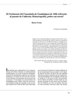 El Testimonio del Consulado de Guadalajara de 1802 referente al puente de Calderón. Historiografía ¿sobre sus arcos?