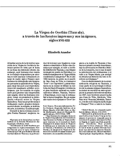 La Virgen de Ocotlán (Tlaxcala), a través de las fuentes impresas y sus imágenes, siglos XVII-XXI
