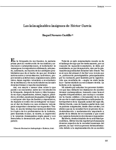 Las inimaginables imágenes de Héctor García