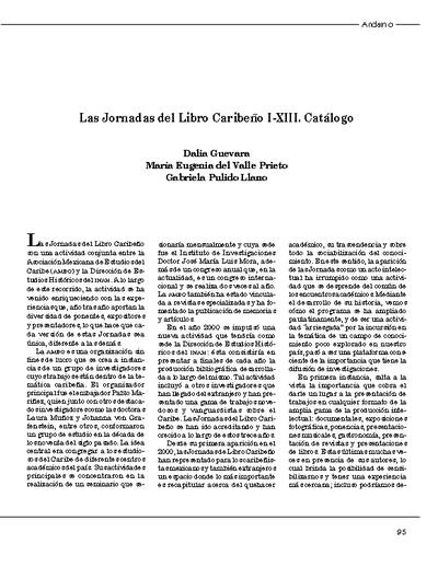 Las Jornadas del Libro Caribeño I-XIII. Catálogo