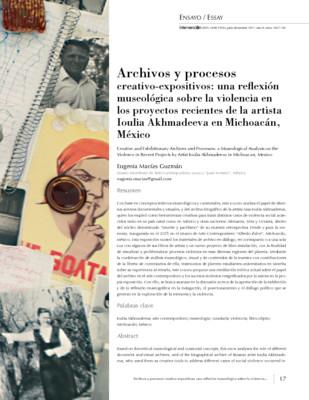 Archivos y procesos creativos y expositivos: una reflexión museológica sobre violencia en los proyectos recientes de la artista Ioulia Akhmadeeva en Michoacán, México