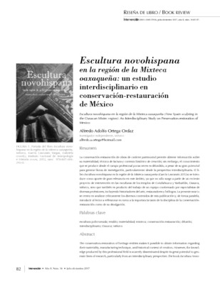 Escultura novohispana en la región de la Mixteca oaxaqueña