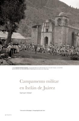 Campamento militar en Ixtlán de Juárez