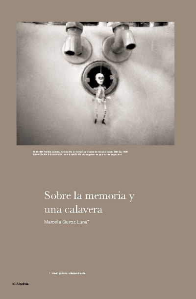 Sobre la memoria y una calavera