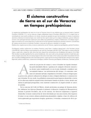 El sistema constructivo de tierra en el sur de Veracruz en tiempos prehispánicos