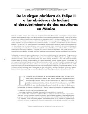 De la virgen abridera de Felipe II a las abrideras de Indias: el descubrimiento de dos esculturas en México