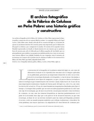 El archivo fotográfico de la Fábrica de Celulosa en Peña Pobre: una historia gráfica y constructiva