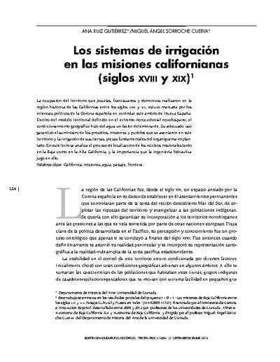 Los sistemas de irrigación en las misiones californianas (siglos XVIII y XIX)