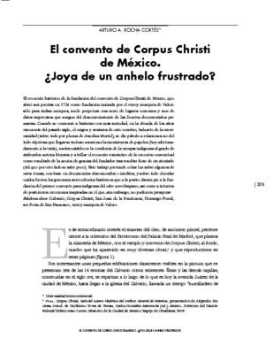 El convento de Corpus Christi de México. ¿Joya de un anhelo frustrado?