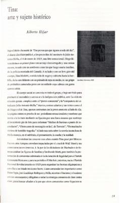 Tina: arte y sujeto histórico
