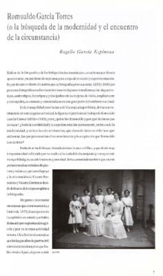 Romualdo García Torres (o la búsqueda de la modernidad y el encuentro de la circunstancia)